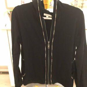 Authentic Burberry black zip-up. Size XL.